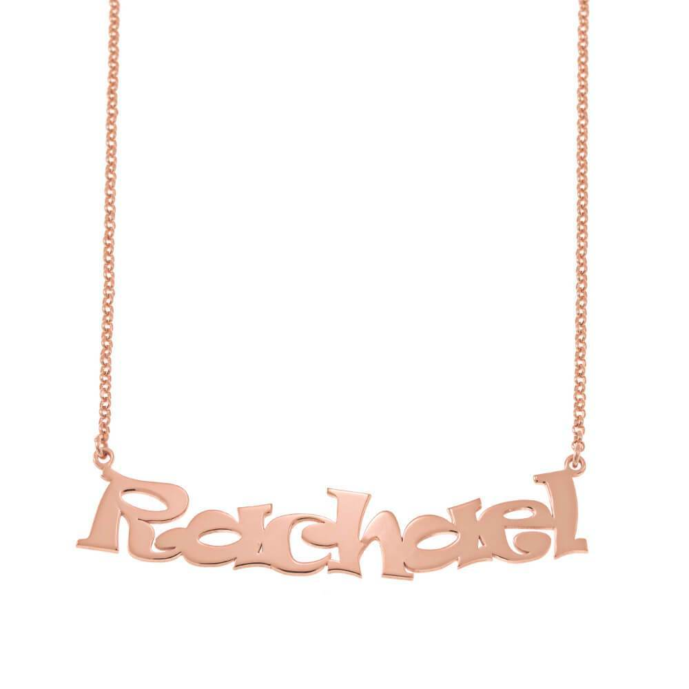 Cartoon Ravie Font Name Necklace