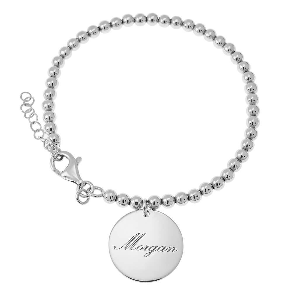 Disc Bead Name Bracelet