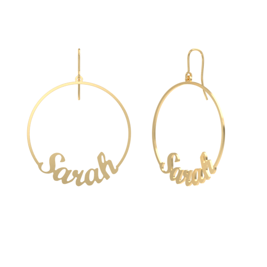 Classic Hoop Name Earrings