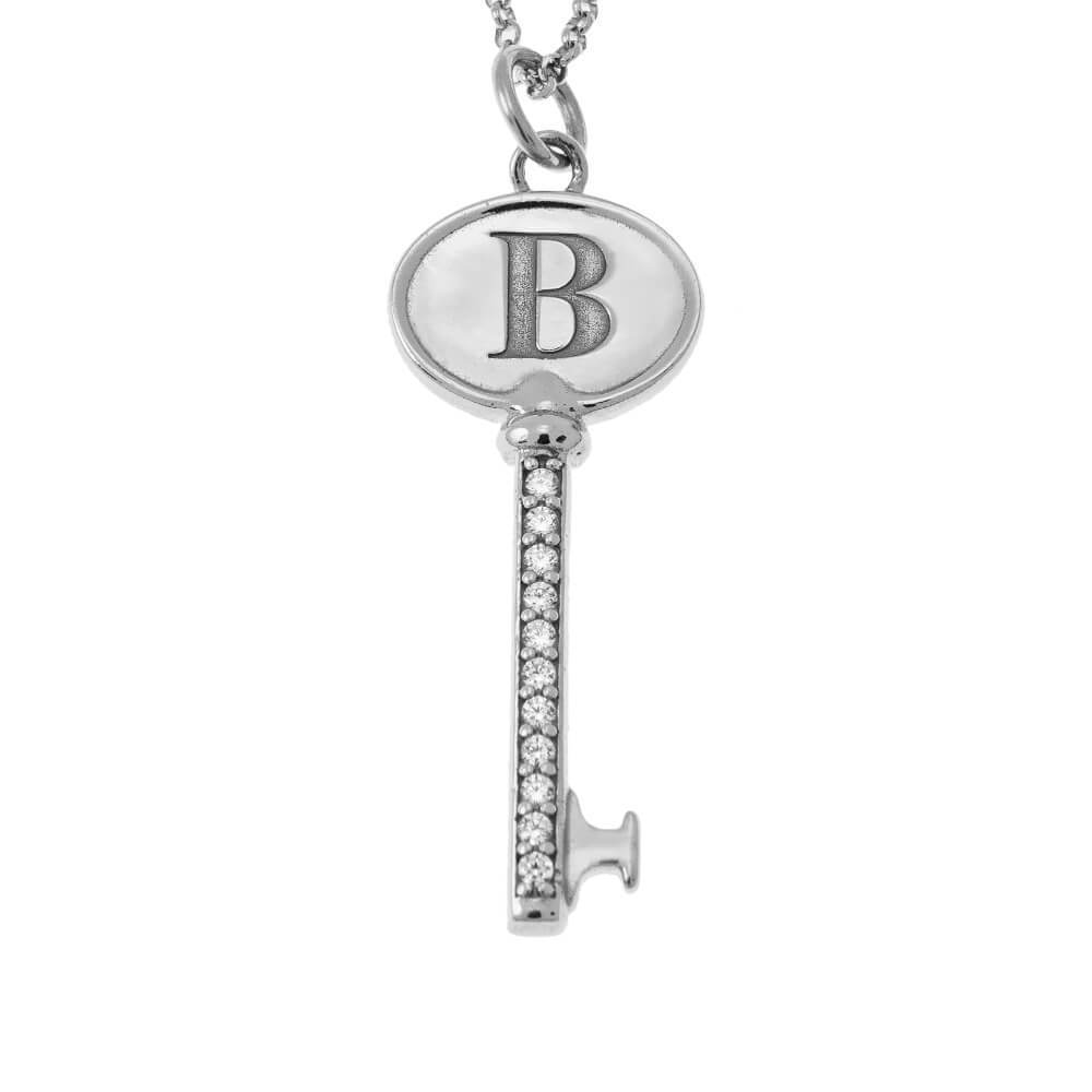 Personalized Initial Key Necklace