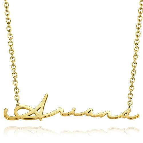 Name Necklace Gift for Girl 18K Gold Plated New Style By Silviax