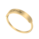 Personalized Nameplate Ring