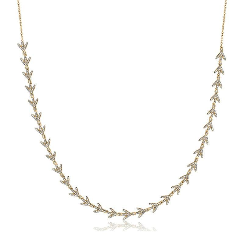 Lucky Sterling Silver Bay Leaf Necklace