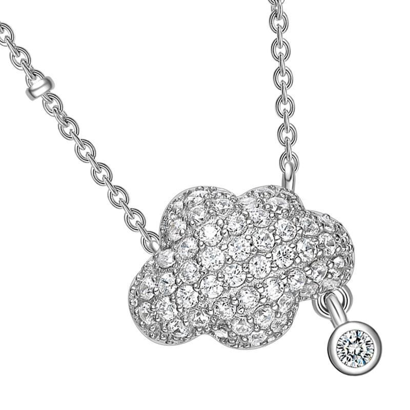 Sterling Silver Cloud Pendant Necklace