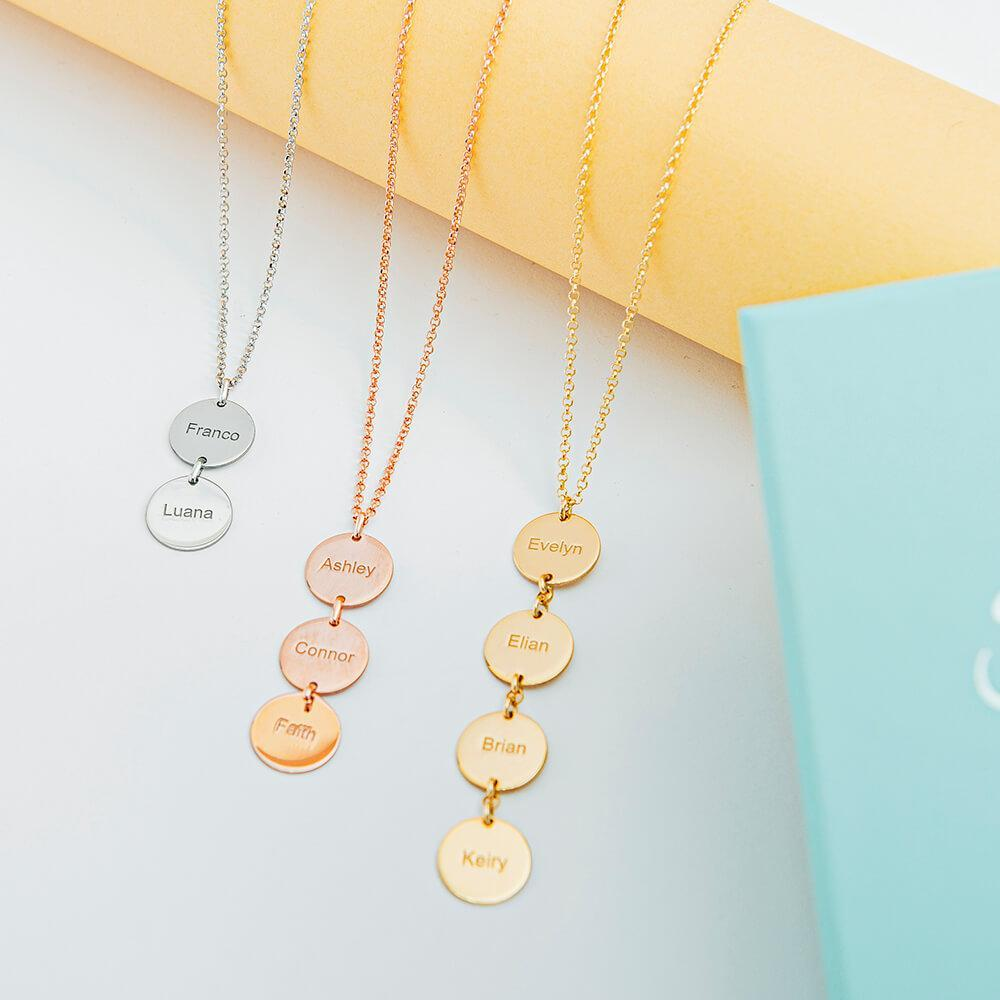 Vertical Disc Necklace