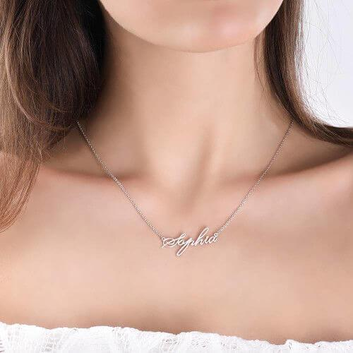Sterling Silver Personalized Necklaces With Name