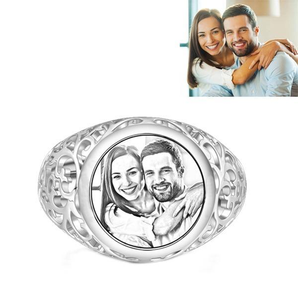Personalized Round Photo Ring