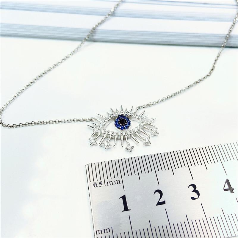 Sterling Silver Lucky Eye Pendant Necklace