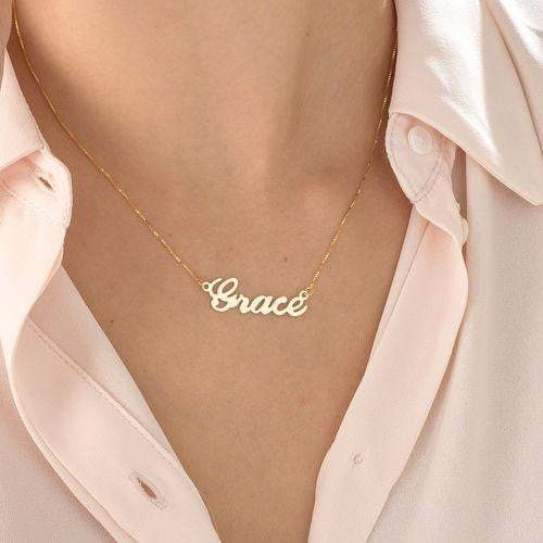 18K Gold Plated Classic Name Necklace