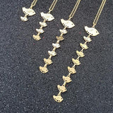 Vertical Birds Necklace 925 Sterling Silver