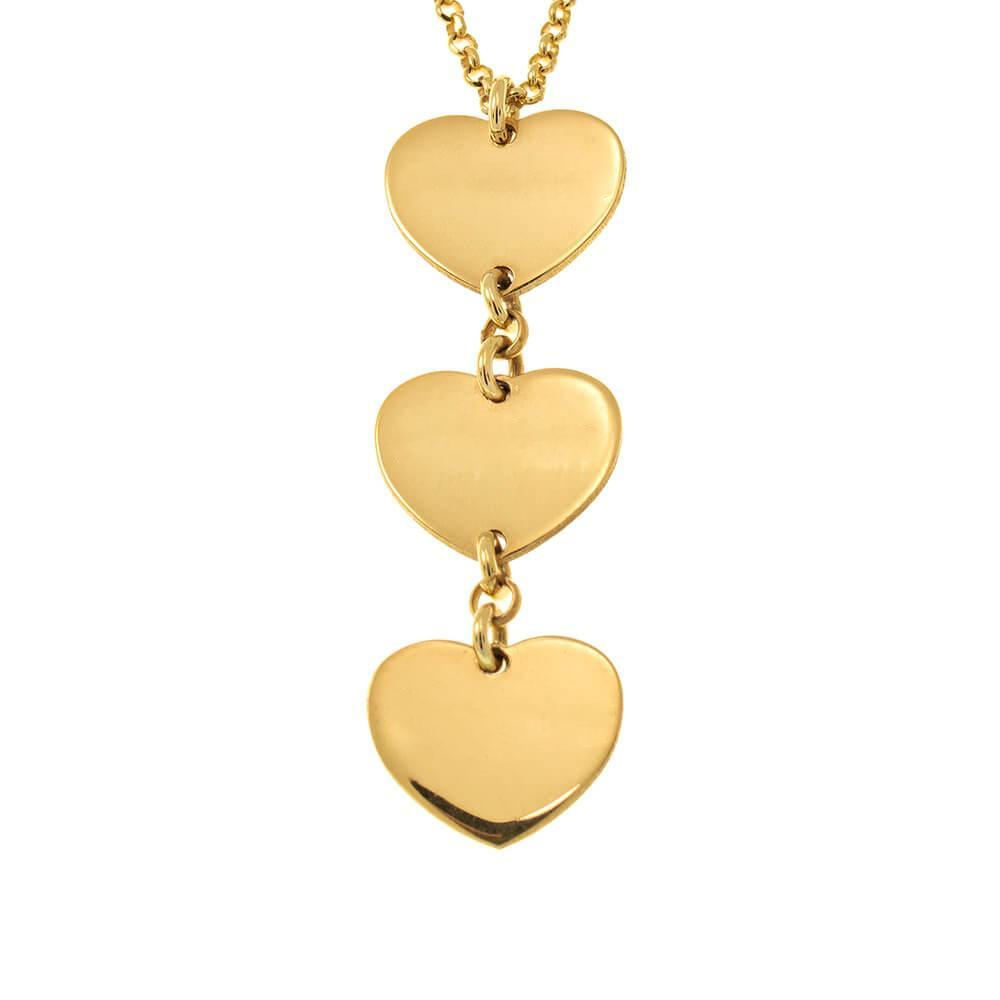 Vertical Heart Name Necklace