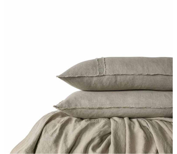 Natural Eadie Linen Sheet Set