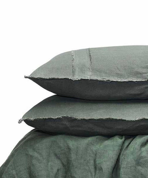 Khaki  Eadie Linen Sheet Set