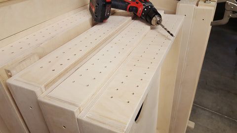 Drilling Cornhole Boards