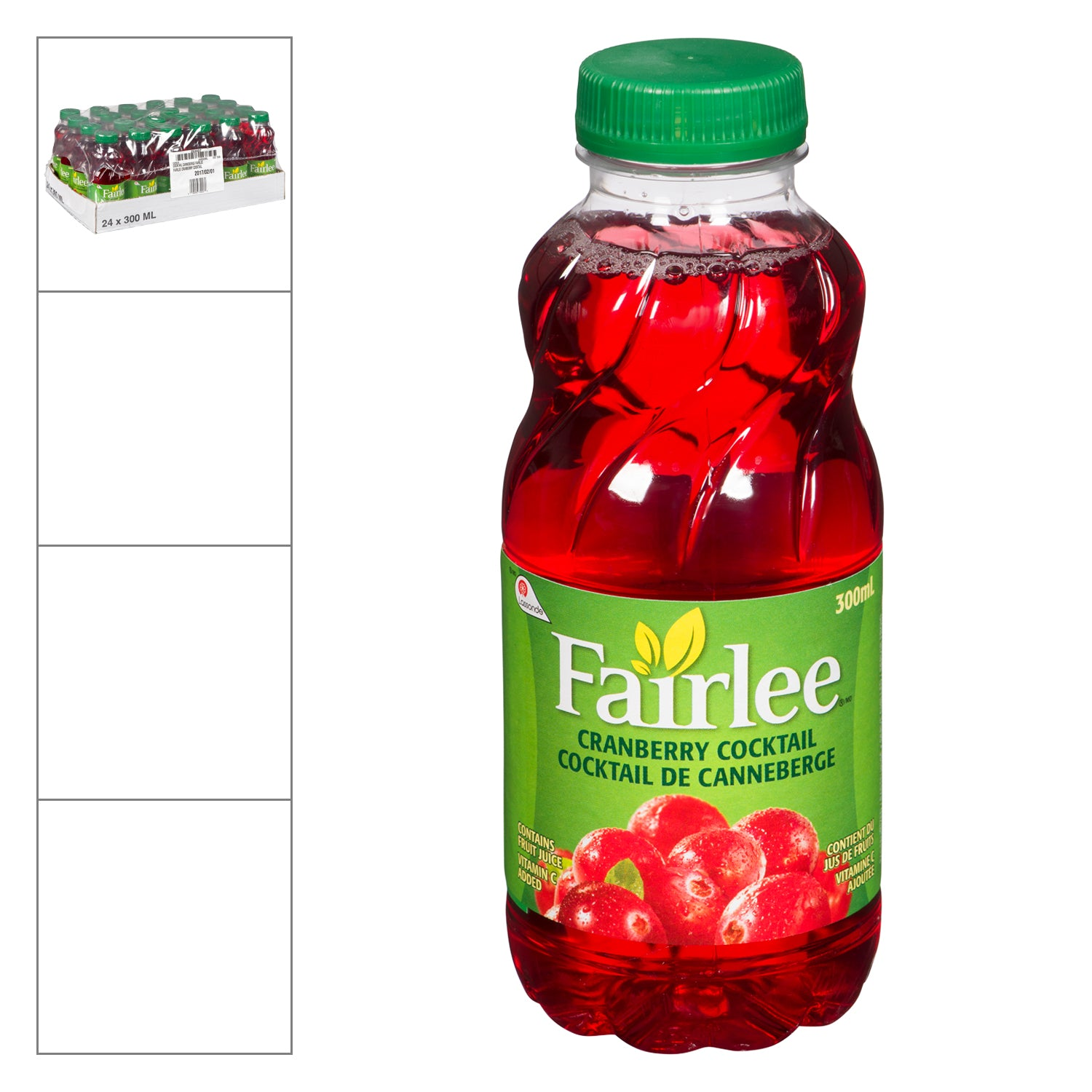 Fairlee Cranberry Cocktail Juice 300 ml - 24 Pack [$0.79/each]