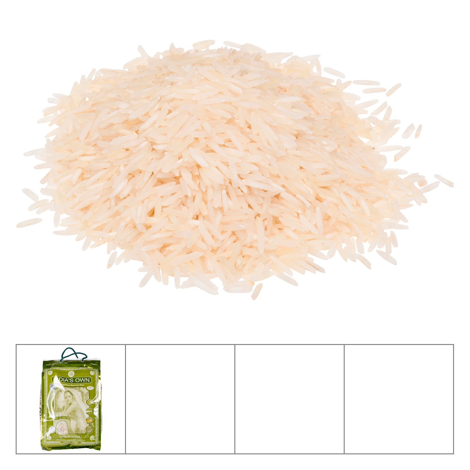 India's White Basmati Rice 10 lb - 1 Pack [$1.80/lb]