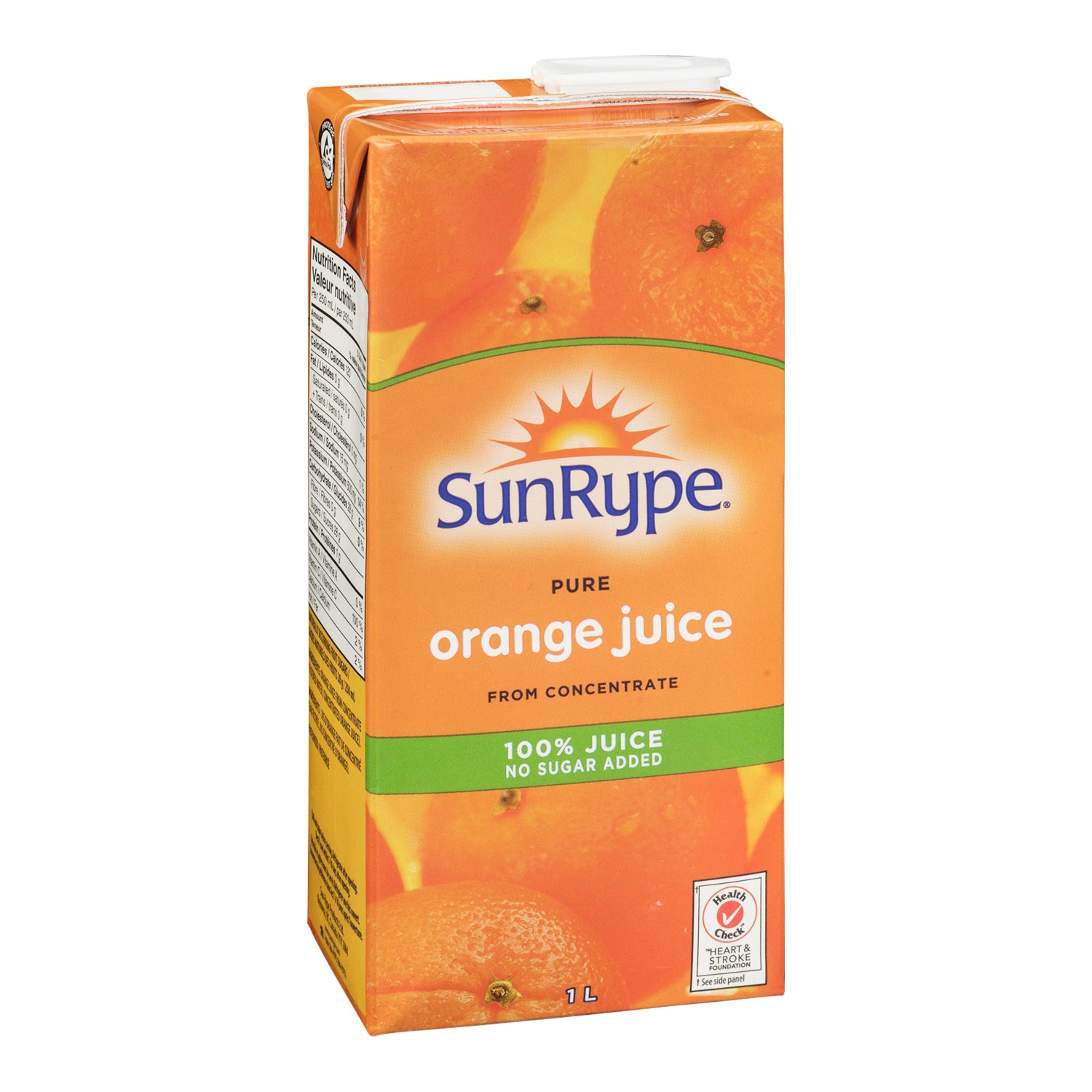 Sunrype Unsweetened Orange Juice 1 L - 12 Pack [$2.08/each]