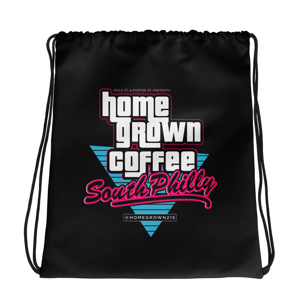 BLACK VC Drawstring bag