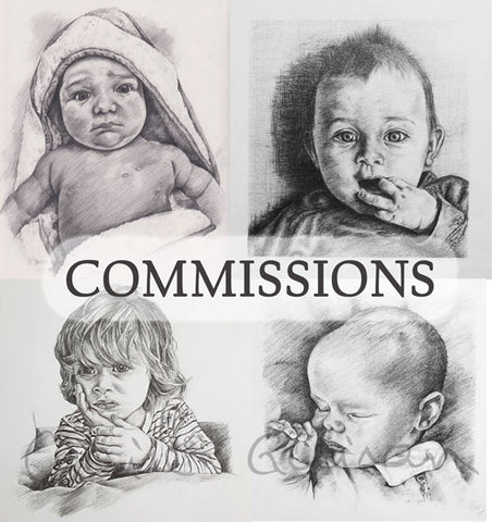 baby drawing custom drawing baby present new baby commission pencil sketch