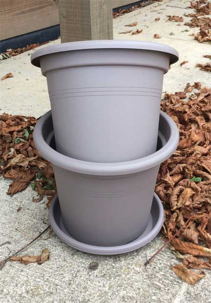 Pair Of Cylindro Patio Planter