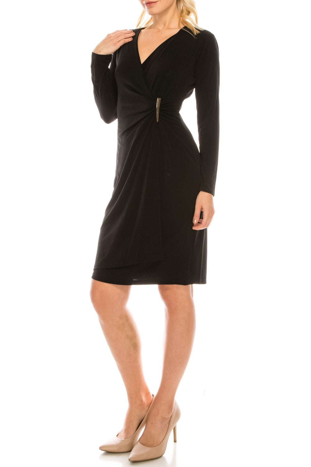 BLACK LONG SLEEVE DRESS