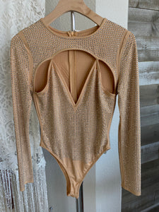 GOLD SPARKLE BODYSUIT