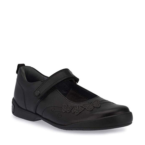 Start-rite PUMP Girl's Black Leather School Shoe