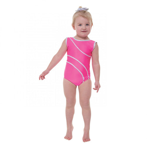 Tappers & Pointers Sleeveless Leotard With Silver Hologram Trim