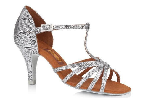 Freed DIVA Silver Snakeskin Ladies Social Ballroom Shoe