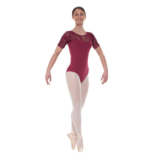 Tappers & Pointer Elegance Collection Cotton And Lace Leotard ELE/3