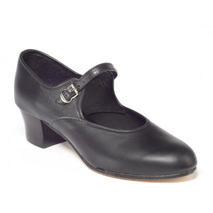 Tappers & Pointers Leather Cuban Heel Character Shoe