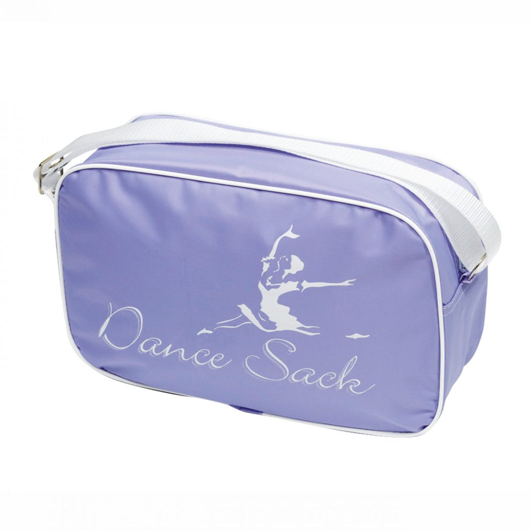 Tappers & Pointers Lilac Sholuder Bag With Dance Sack Motif