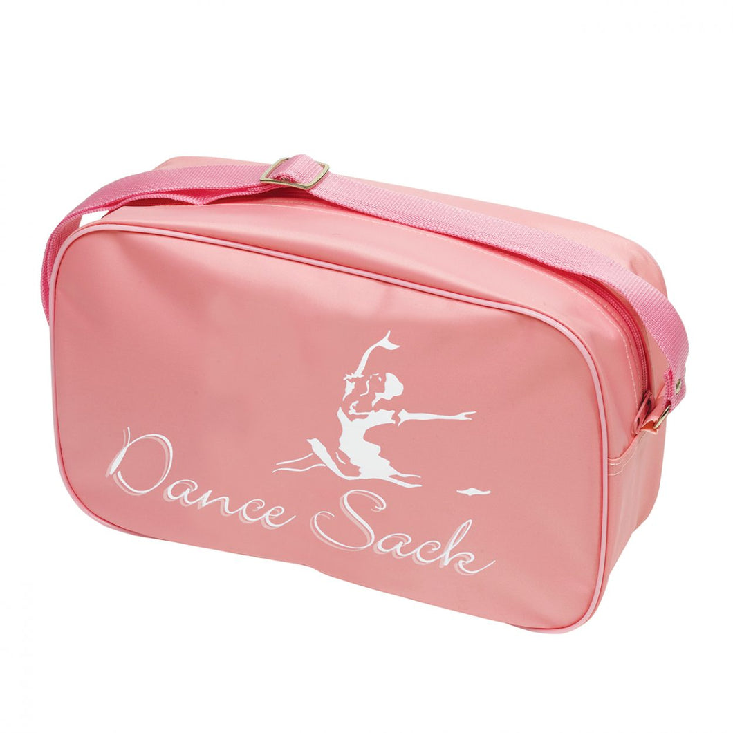 Tappers & Pointers Pink Sholuder Bag With Dance Sack Motif