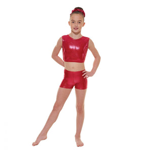 Tappers & Pointers Shine Gymnastics Crop Top