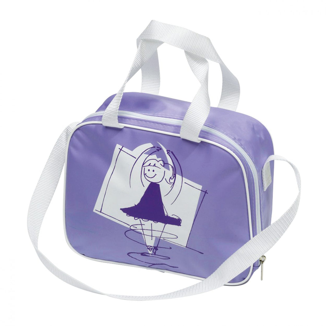 Tappers & Pointers Lilac Square Bag With Dancer Motif