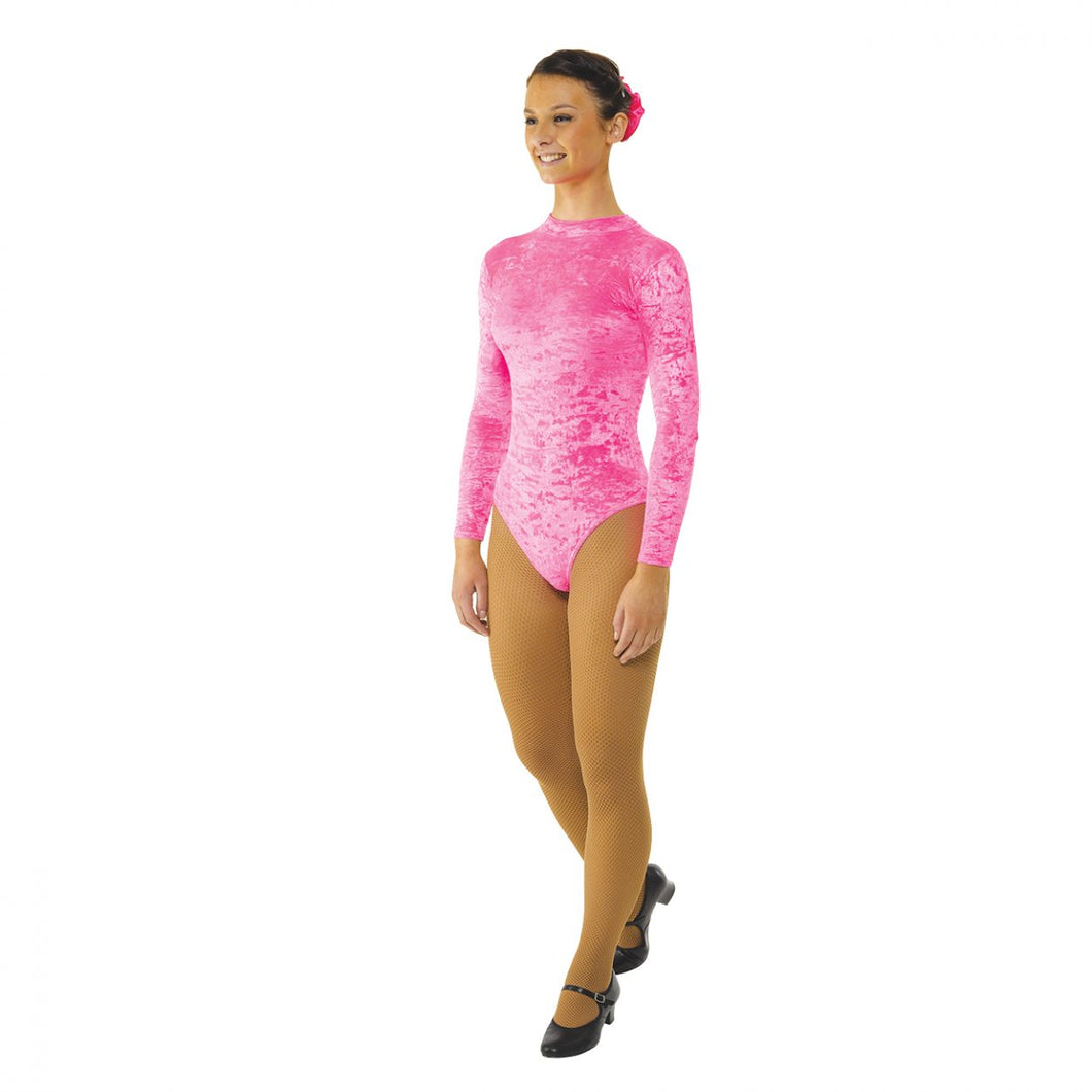 Tappers & Pointers Long Sleeved Turtle Neck Crushed Velvet Leotard