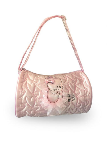 Capezio Pink Quilted Ballerina Barrel Bag