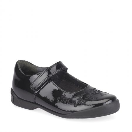 Start-rite HOPSCOTCH Girl's Black Patent School Shoe