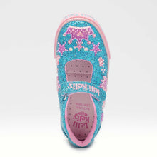 Load image into Gallery viewer, Lelli Kelly TIARA Turquoise Glitter Canvas Dolly Shoe LK1078