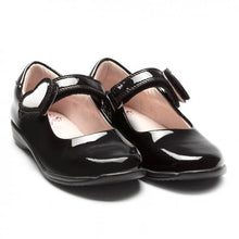 Load image into Gallery viewer, Lelli Kelly COLOURISSIMA HEARTS Girl's Black Patent Dolly School Shoe LK8500 F Fitting