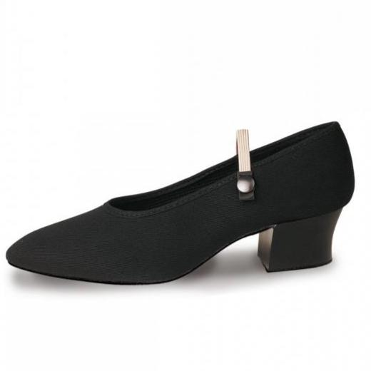Roch Valley Cuban Heel Regulation Canvas Syllabus Shoe