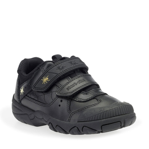 Start-rite TARANTULA Boy's Black Leather School Shoe