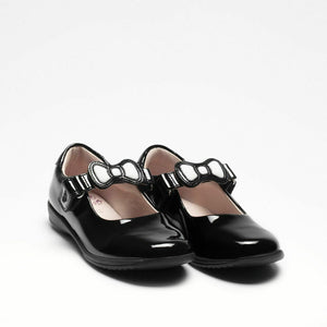 Lelli Kelly COLOURISSIMA BOW Girl's Black Patent School Shoe LK8800 F Fitting
