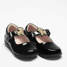 Load image into Gallery viewer, Lelli Kelly POPPY Puppy Dog Black Patent School Shoe LK8317 F Fitting