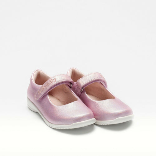 Lelli Kelly PRINCESS Pearlised Pink Dolly Shoe LK9750