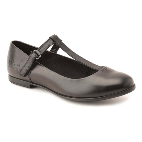 Start-rite Angry Angels ISABELLE Girl's T-Bar Black Leather School Shoe