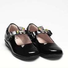 Load image into Gallery viewer, Lelli Kelly BONNIE Unicorn Black Patent School Shoe LK8311 F Fitting