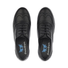 Load image into Gallery viewer, Start-rite Angry Angels MATILDA Girl's Black Leather Lace-Up School Shoe