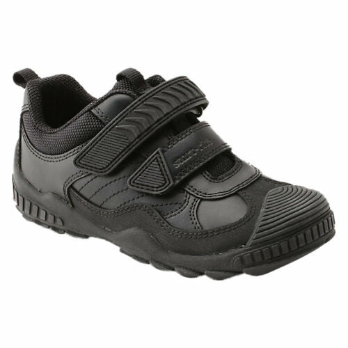 Start-rite EXTREME PRI Boy's Black Leather School Shoes