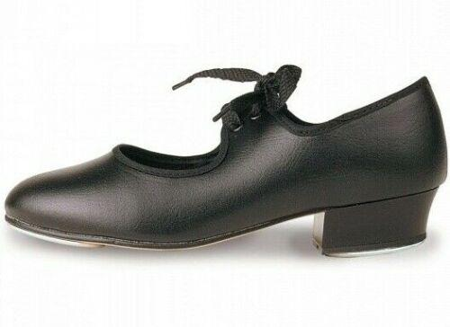 ROCH VALLEY LHP Low Heel PU Tap Shoe With Fitted Toe And Heel Taps